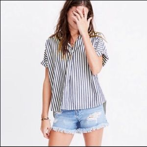 Madewell courier button up top